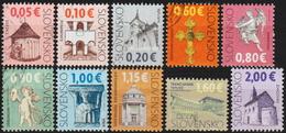 """2009-15: Slowakei """"Kulturerbe"""" Mi.Nr. Siehe Text Gest. (d326) / Slovaquie Y&T No. Voir Le Texte Obl. - Slovacchia"""