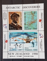 Neuseeland Antarctis Discovers 1990, Block Postfrisch, MNH - Briefmarken