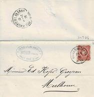 TP N° 32 Du Reich Sur  Lettre De Weiler Bel Thann Pour Mulhouse Avec Fer à Cheval D'arrivée - Storia Postale