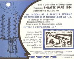 France 1964 - Philatec Paris - Exposition Philatélique -Ticket D'entrée - Toegangskaarten