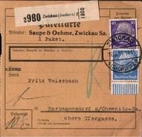 ! 1943 Paketkarte Deutsches Reich, Zwickau, Bogenrand - Allemagne