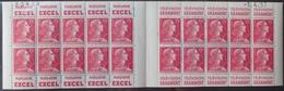 R1949/1576 - TYPE MARIANNE DE MULLER - CARNET N°1011- C4 TIMBRES NEUFS** Série 4.57 (daté 1.4.57) - Markenheftchen