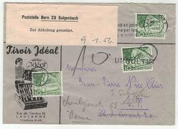 Suisse // Schweiz // Switzerland // 1950-1959 // Lettre Taxée Pour Berne - Portomarken