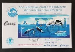 Antartica, Australia Antarctic Territory, Block 1 Auf Brief International Polar Year 2007/8 - Australisches Antarktis-Territorium (AAT)