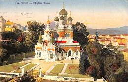 06 - Nice - L'Eglise Russe (colorisée, G Lemaitre 1924) - Monuments, édifices