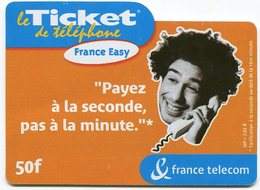 TELECARTE-LE TICKET DE TELEPHONE FRANCE EASY-2003-50F - France