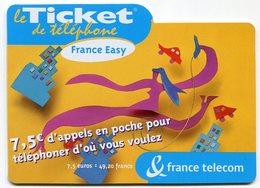 TELECARTE-LE TICKET DE TELEPHONE FRANCE EASY-2004-7.5€ - France