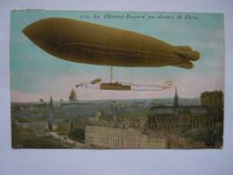 3731 Le Clément-Bayard Au-dessus De Paris Avion Dirigeable Zepplin Aqua Photo Paris Gelopen Circulée 1909 - Dirigeables