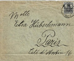 TP N° 100 Du Reich Sur Enveloppe De Strasbourg  Pour Paris - Alsace-Lorraine