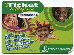 TELECARTE-LE TICKET DE TELEPHONE INTERNATIONAL-2003-50F - France