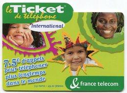 TELECARTE-LE TICKET DE TELEPHONE INTERNATIONAL-2004-7.5€ - France
