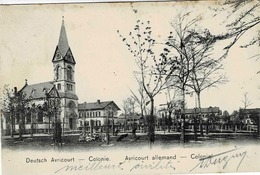 TP N° 69 Du Reich Sur Carte Postale De Avricourt Allemand   Pour Limoges Puis St Germain Les Belles - Alsace-Lorraine