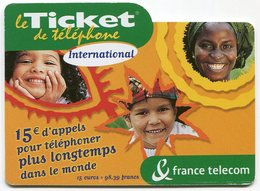 TELECARTE-LE TICKET DE TELEPHONE INTERNATIONAL-2004-15€ - France