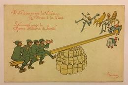 429 Date Denaro Per La Vittoria . La Vittoria è La Pace. Sottoscrivete Presso La Banca Italiana Di Sconto - Humor