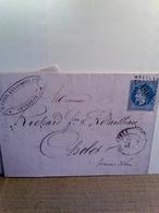 Lot De 3 Lettres 20 C.Napoléon III Lauré - 1863-1870 Napoléon III Lauré
