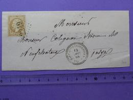T22 De MARTIGNY-LES-GERBONVAUX (VOSGES) Sur N°21 + PC 2249 Du 19.12.1866 Pour Neufchateau DEVANT DE LETTRE - 1849-1876: Période Classique