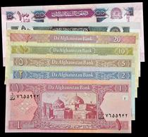 # # # Set 7 Banknoten Aus Afghanistan UNC # # # - Afghanistan