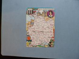 Carte Département  De L'ILLE ET VILAINE  -  35    -  Illustration PINCHON  -  Carte Géographique  - - France