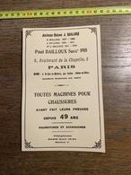 1927 PUBLICITE CHAUSSURES PAUL DAILLOUX PARIS SAINT CYR LA RIVIERE PAR SACLAS - Collections