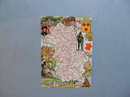 Carte Département  De L'ISERE  -  38    -  Illustration PINCHON  -  Carte Géographique  - - Autres Communes