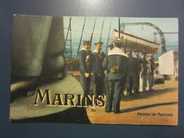Carte Postale Soldats Marins Peloton De Punitions - Personajes