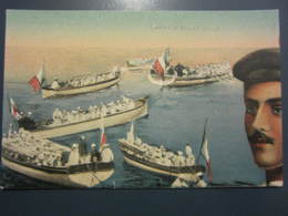 Carte Postale Soldats Marins Canots Armés - Personnages
