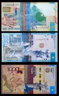 # # # 3 Banknoten Kasachstan 1.700 Tenge UNC # # # - Kazakhstan
