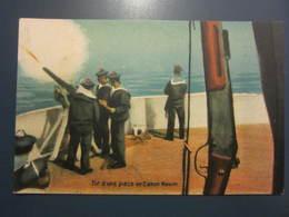 Carte Postale Soldats Marins Tir D'une Pièce De Canon Maxim - Characters