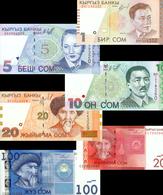 # # # Lot 6 Banknoten Kirgisien (Kyrgystan) 156 SOM UNC # # # - Kasachstan