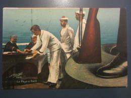 Carte Postale Soldats Marins La Paye à Bord - Personajes