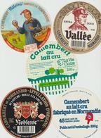 Étiquettes De Fromage (Lot De 5) : CAMEMBERT : Vallée, Clécy, Noblesse, St Loup De Fribois, Malvina, Mittois, Calvados - Formaggio