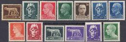 ITALIA - 1929/1930 - Lotto Composto Da 13 Valori Nuovi MNH: Yvert 224, 227/231, 234/238 E 240/241. - 1900-44 Victor Emmanuel III.