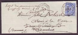 AISNE - LSC - Convoyeur Station VILLERS COTTERETS LAON.P. (L249) (-1877) Sur N° 78 Pour Amiens (76) -> Paris (60) - Posta Ferroviaria