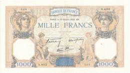 """Billet De 1000 F   """"Cérès Et Mercure"""" - 13 Octobre 1938 , N.4052/ 528 - 1 000 F 1927-1940 ''Cérès Et Mercure''"""