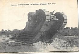 56 CAMP DE COETQUIDAN MANOEUVRE DUN TANK - France