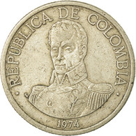 Monnaie, Colombie, Peso, 1974, TB, Copper-nickel, KM:258.1 - Colombie