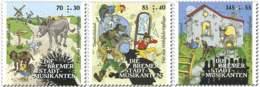 7249  Conte Les Musiciens De Brême, Coq Chat Chien âne - Musicians Of Bremen: Donkey Dog Cat Rooster: 2017-stamps - Hauskatzen