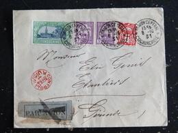 LETTRE INDOCHINE AVEC YT 144 1321 132 - SAIGON CENTRAL COCHINCHINE - CONTROLE AFFRANCHISSEMENTS AVION - LE THAT LUONG - Indochina (1889-1945)