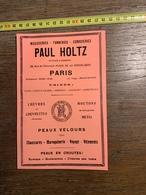 1927 PUBLICITE PAUL HOLTZ PARIS CHOISY LE ROI GENTILLY GRAULHET LABOUTARIE CUIRS LEON SOMMER FRERES - Documentos Antiguos