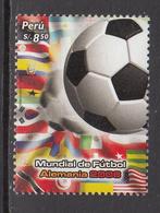 2006 Peru World Cup Football Complete Set Of 1  MNH - Peru