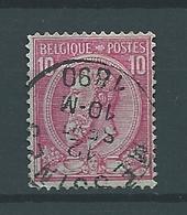 [46_0010] Zegels 46 Met Cirkelstempel  Messines Scan Voor- En Achterzijde - 1884-1891 Leopold II.