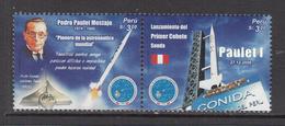 2007 Peru Rocket Space Complete Pair  MNH - Perù