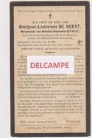 DOODSPRENTJE DE GEEST BENIGNUS WEDUWNAAR DEYAERT BELSELE PUYVELDE 1812 - 1925  Bewerkt Tegen Kopieren - Images Religieuses