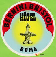 Voyo BERNINI BRISTOL HOTEL  Roma  Italy Hotel Label Early Printing  Vintage - Hotel Labels