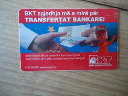 ALBANIA USED CARDS  BANKNOTES - Albanië