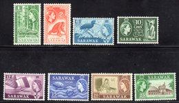 SARAWAK - 1964 W12 ST EDWARD'S CROWN SET COMPLETE (8V) FINE MNH ** SG 204-211 - Malaysia (1964-...)