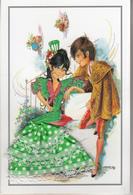 Carte Brodée - Jeune Couple Espagnol - Brodées