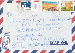 Israel Registered Air Mail Cover Sent To Germany Tel Aviv Yafo - Airmail