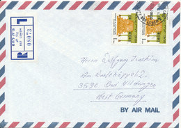 Israel Registered Air Mail Cover Sent To Germany Betlehem 28-7-1989 - Airmail