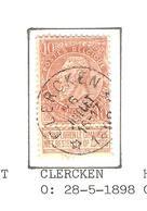 REF124/ TP 58 C.Relais-Etoile Clercken 28/5/1898 (COBA 15€) Aminçi - Dun - Cachets à étoiles